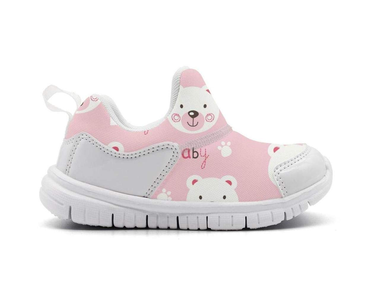 ONEYUAN Children Pink Bear Baby Decor Kid Casual Lightweight Sport Shoes Sneakers Walking Athletic Shoes