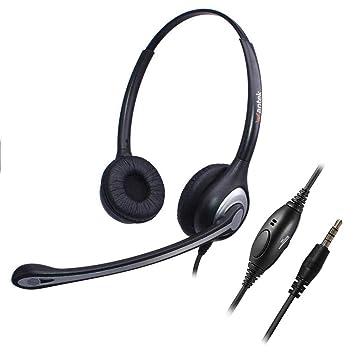 Wantek - Auriculares con Cable para teléfono móvil, Manos Libres ...