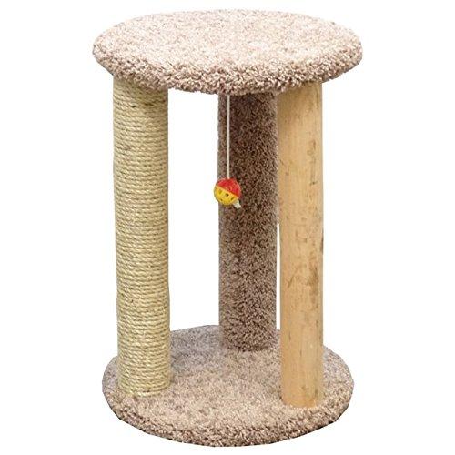 Beige Cat Condos Premier Round Multi Scratcher, Brown