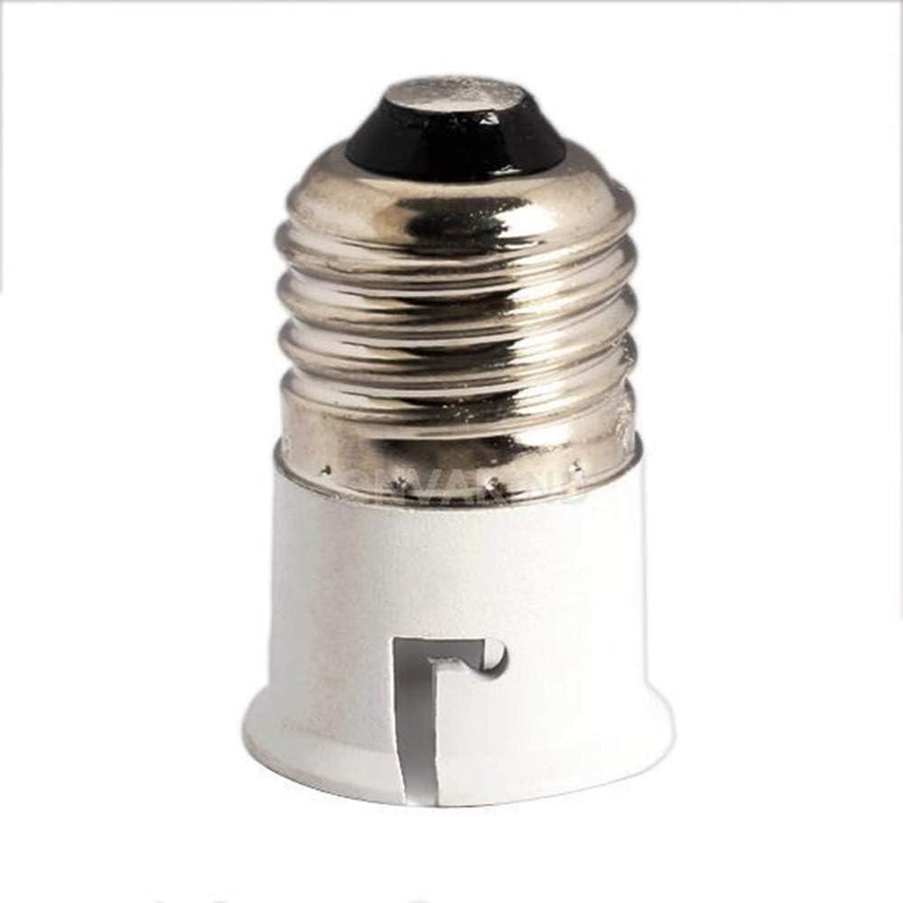 Montage Extender Halter Energiesparlampe Sockel Konverter Praktisch und N/ützlich Ogquaton 1 St/ücke E27 bis B22 Lampenfassung Konverter Adapter