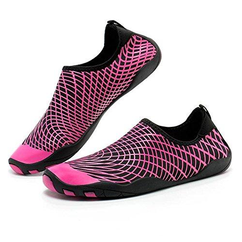 Chausson Chaussure Unisexe Séchage Sport Rapide Respirant D'eau Bigood Élastique Cramoisi 7n8ZYXWpZ