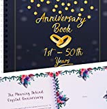 Wedding Anniversary Memory Book - A Hardcover Journal To Document Anniversaries From The 1st To 50th Year! Unique Couple Gifts For Him & Her - Personalized Marriage Presents For Husband & Wife!