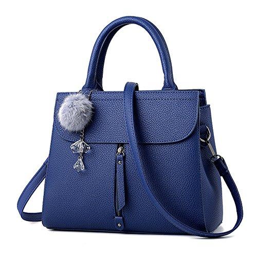 GWQGZ Moda Bolso Clásico Minimalista Señoras Aire Bolso Nueva Azul De Blue Casual F4frqFHw