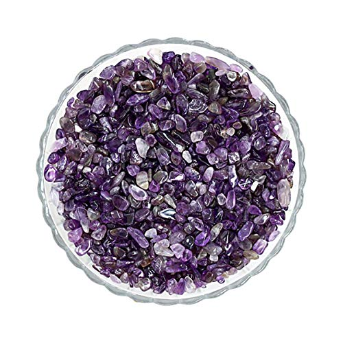 Haisiluo Purple Amethyst Crushed Potted Plants Gravel Decorative Pebbles Degaussing Stone Minerals Fish Tank Stones