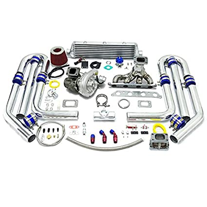 High Performance Upgrade T04E T3 T25 13pc Turbo Kit - Toyota 4A-FE Engine