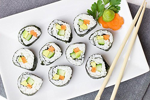Laminated 36x24 inches Poster: Sushi Vegetarian Vegetables Rice Asia Carrot Cucumber Snack Chinese Eat Food Vegan Vitamins Delicious]()