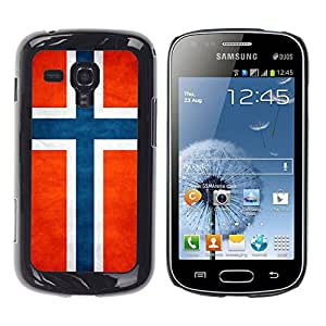 Paccase / SLIM PC / Aliminium Casa Carcasa Funda Case Cover - National Flag Nation Country Norway - Samsung Galaxy S Duos S7562
