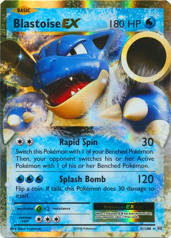 Pokemon - Blastoise-EX (21/108) - XY Evolutions - Holo