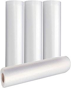 LabZhang 4pcs 8x16 Vacuum Sealer Bags Rolls,Seal a Meal Rolls, Heavy Duty Food Saver Bags Rolls,BPA Free,Meal Prep or Sous Vide(8 Inx16 Ft,4pcs)