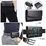 DOB® PU Leather Holster Pouch for Mi 11X Belt Clip Cases Waist Bag Pack [ Size Up to 6.5 Inch] Mobile Phone Holder…