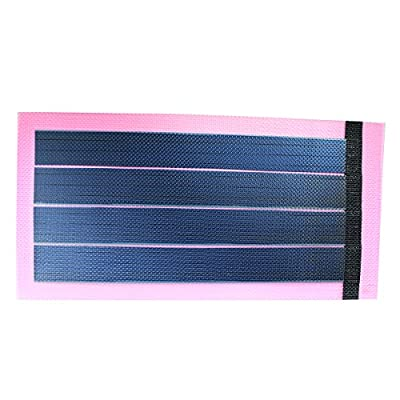 JIANG Flexible Thin Film Solar Panel Module DIY 1W 6V Panel Rechargeable Battery (Pink)