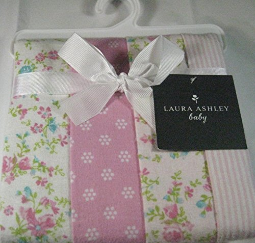 set-of-4-laura-ashley-baby-swaddling-and-receiving-blankets-100-cotton-flannel