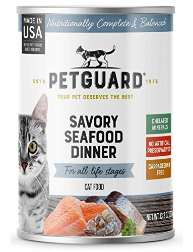 PetGuard Savory Seafood Dinner Wet Cat Food, 13.2-oz, case of 12