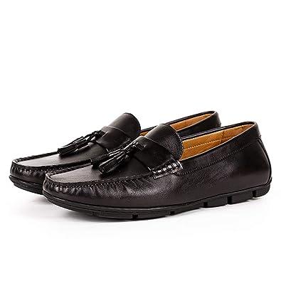 Zapatos nuevos for Hombres Mocasines con borlas clásicas Italianas ...