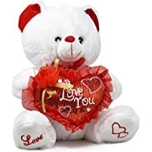 """Valentine Teddy Bear 14"""" That Says I Love You When Hand Is Pressed, Valentine's Day Gifts For Boyfriend Girlfriend Wife Husband Women And Men By Gift Boutique"""