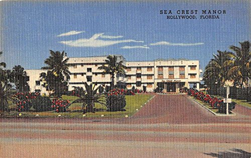 Hollywood Florida Sea Crest Manor Street View Antique Postcard (Crest Manor)