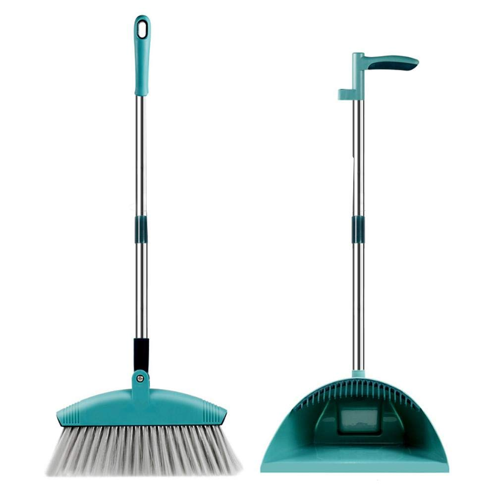 IMSHI Dust Pan and Broom/Dustpan Cleans Broom Combo - 180° Rotating Windproof Long Comb Teeth Soft Hair Magic Broom Household Home Kitchen Room Office Lobby Floor Sweeping Cleaning Kit by IMSHI