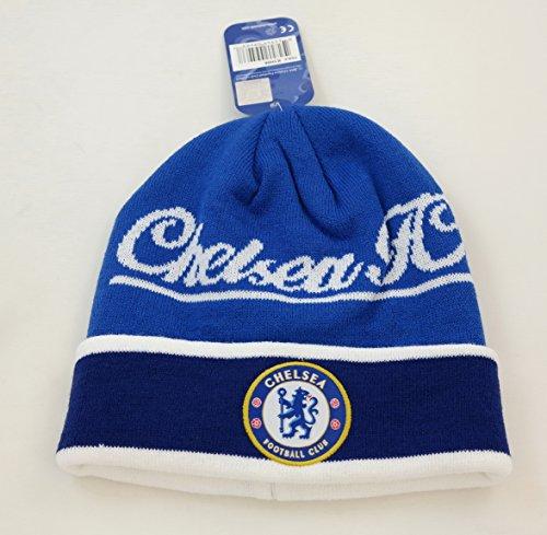 CHELSEA FC OFFICIAL SOCCER BEANIE KNIT FOOTBALL CLUB HAT CAP ()