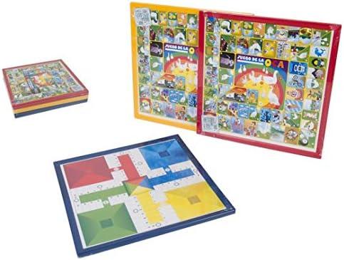 Gerimport Juegos PARCHÍS Y OCA 34X34CM (Incluye FICHAS, CUBILETE Y Dados): Amazon.es: Juguetes y juegos