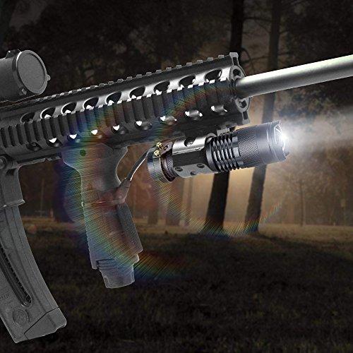 5 Pack SK-68 3 modos de mano Mini Cree Q5 LED linterna antorcha Lámpara táctica 7w 300lm Foco ajustable Zoomable Luz