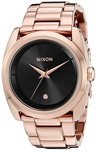 Nixon Women's A9352046 Queenpin Analog Display Japanese Quartz Rose Gold Watch