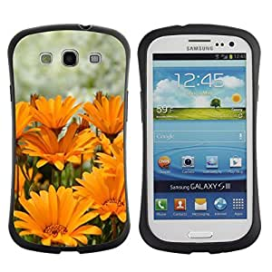 "Hypernova Slim Fit Dual Barniz Protector Caso Case Funda Para SAMSUNG Galaxy S3 III / i9300 / i747 [Verano Sun amarillo-naranja de la flor""]"