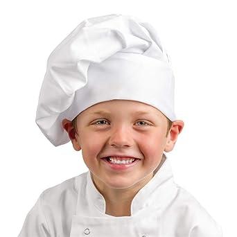 Los blancos Chefs ropa A677 niños gorro de cocinero 93bac498abd