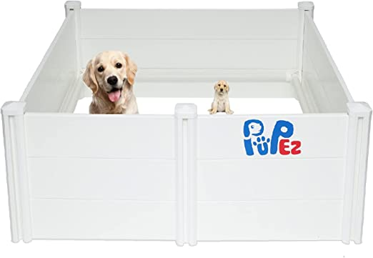 PUPez Whelping Box for Dog Puppy Breeding | Large Medium Small Dogs Puppies | 48