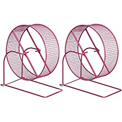 Hendryx Prevue Pet Products 2 Pack of Wire Mesh Hamster/Gerbil Wheel Toys for Small Animals, 8-Inch, Colors Vary