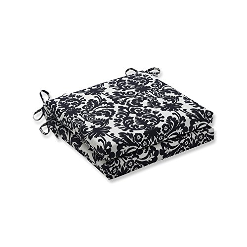 - Pillow Perfect Outdoor/Indoor Essence Onyx Squared Corners Seat Cushion 20x20x3 (Set of 2)