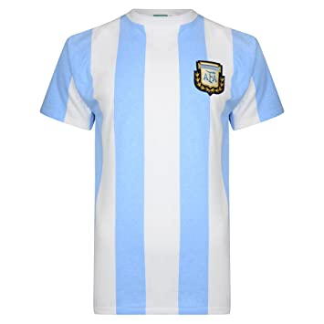 8c12ad8a08f Official Retro Argentina 1986 World Cup Final shirt 100% COTTON ...
