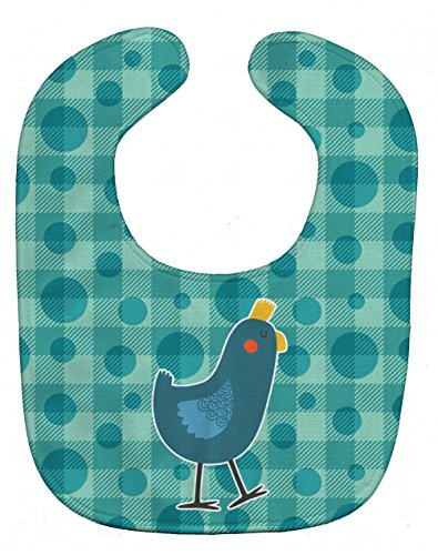 Caroline's Treasures Polkadot Baby Bib, Chicken, Large ()
