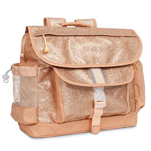(Bixbee Sparkalicious Gold Glitter Backpack, Large)
