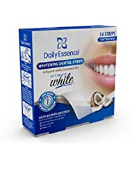 Daily Essence Whitening Strips Infused with Coconut Oil, 14 Count ( Packaging may Vary )