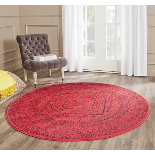 Safavieh Adirondack Collection ADR108F Red And Black Oriental Vintage Round  Area Rug (6u0027 Diameter)
