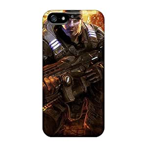 Scratch Protection Cell-phone Hard Cover For Iphone 5/5s (Iag21245sirb) Allow Personal Design Stylish Gears Of War Pictures