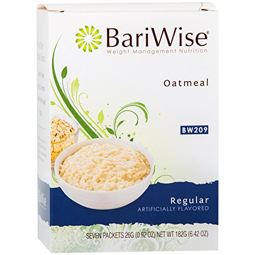 BariWise Low-Carb High Protein Oatmeal/Instant Diet Hot Oatmeals - Regular (7 Servings/Box) - Low Carb, Low Calorie, Low Fat, Sugar Free, Gluten Free, Aspartame Free (Best Instant Oatmeal For Weight Loss)