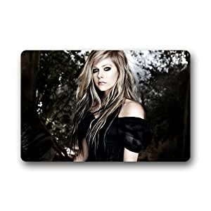 "Custom beautiful Cool Cantante Avril Lavigne decorativo casa interior exterior puerta esteras Felpudo 23.6""L x 15,7"" W"