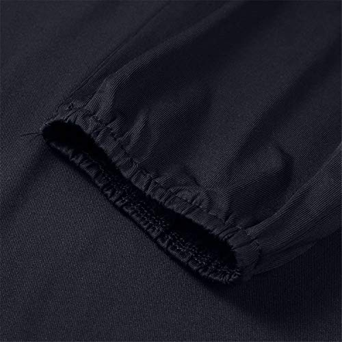 Kalinyer Women Elegant Jumpsuits,Women Loose Solid Color V Neck Long Sleeve Hollow Out Jumpsuit Playsuit(Black,XXXXXL) by Kalinyer (Image #4)