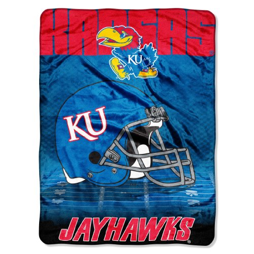 (The Northwest Company Officially Licensed NCAA Kansas Jayhawks Overtime Micro Raschel Throw Blanket, 60