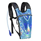 ECEEN Rave Pack Hydration Backpack with 2L Water Bladder Bag for Music Festivals, Raves, Hiking, Biking, Climbing, Running, Outdoors and More (Holographic Blue) Review