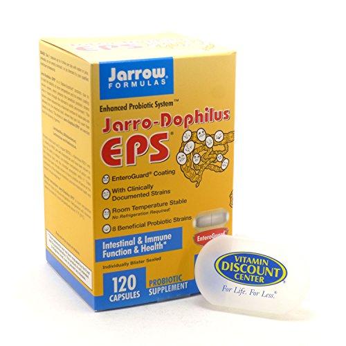 Bundle - 2 Items: 1 Bottle of Jarro-Dophilus EPS by Jarrow - 120 Vegetarian Capsules and 1 VDC Pill Box