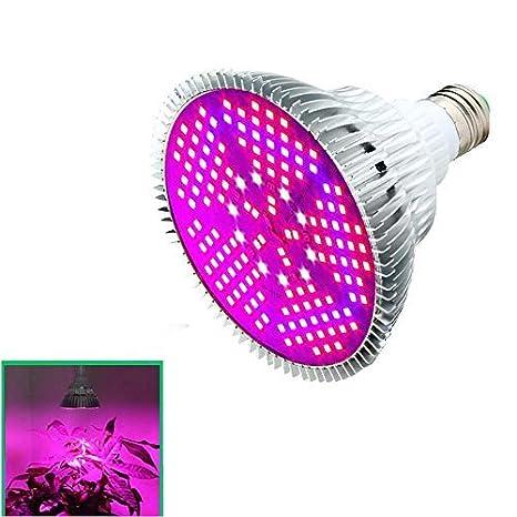 AOLVO Bombilla LED de 100 W, espectro completo lámpara de luz para plantas de interior