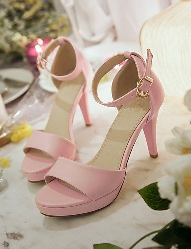 Toe Pink Party White Platform Women's Stiletto ShangYi Sling Open Evening Heels Shoes Sandals Dress amp; back Black Pink x1Zqw8Fw