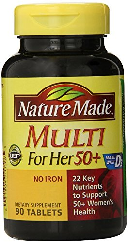 Nature Made Multi For Her 50+ Multiple Vitamin and Mineral, 90 Tablets Pack of 6 by Nature Made
