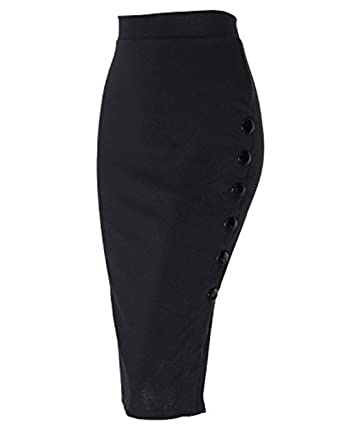 422e4b0b704 Kenancy Jupe Crayon Moulante Jupe Fendues Sexy Slim et Elégant Ladies  Plusieur Tailles Jupe à la