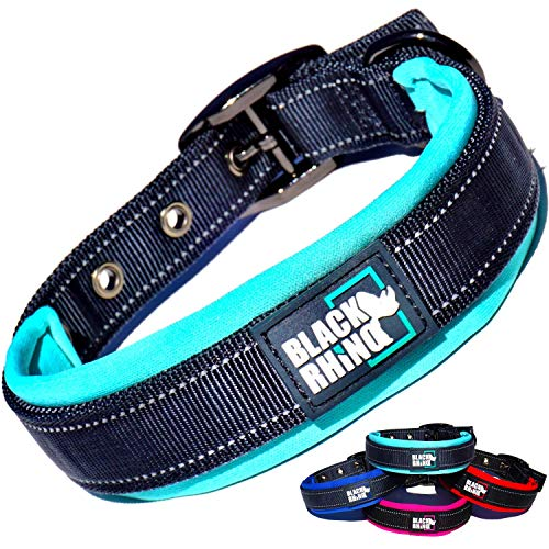 Black Rhino – Dog Collar Ultra Soft for All Breeds Adjustable Reflective Weatherproof