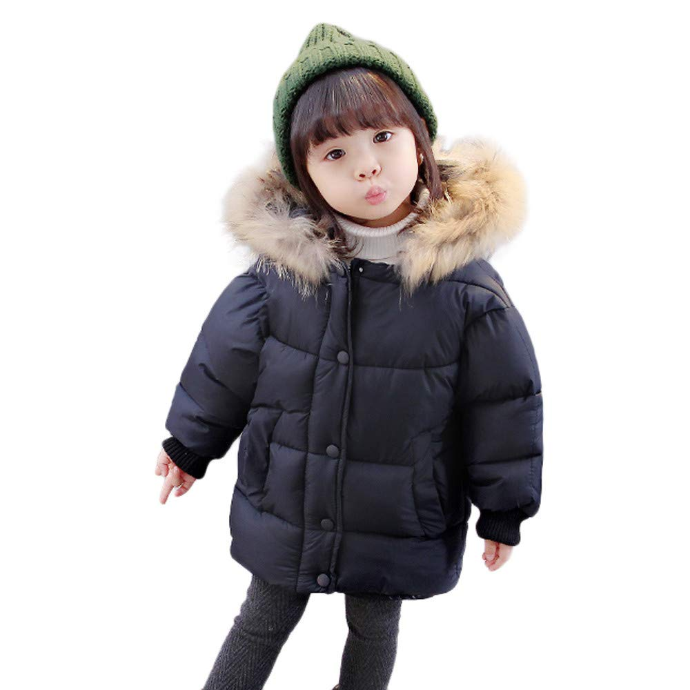 240059726 HOMEBABY Kids Baby Girl Boy Cotton Down Padded Coat with Fur Hooded ...