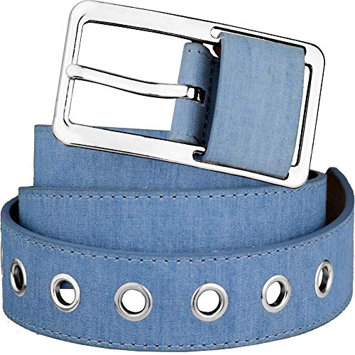 Bee Denim Belts Square Buckle Waist Belts for Jeans Pants Women Casual Clothing Accessories (Belts 01-Silver)