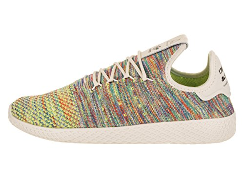 Adidas Originals Pharrell Williams Tennis Hu Pimeknit Scarpa Mens Casuali 9 Hi Res Verde-viola Gesso-coral